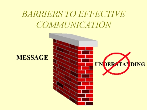 Communication barrier poor timing